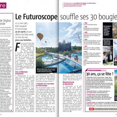 Futuroscope 30 ans Poitiers Mag deux pages