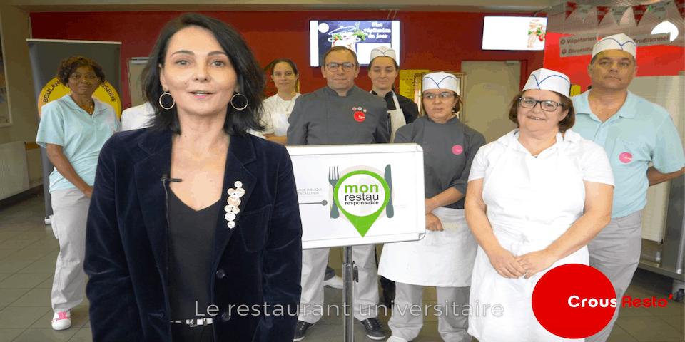 """Le 21 novembre 2019, le restaurant universitaire """"le Marais"""" à Niort a obtenu pour 2 ans la garantie """"Mon Restau Responsable"""" par la fondation pour la nature et l'homme, de Nicolas Hulot et Restau Co."""